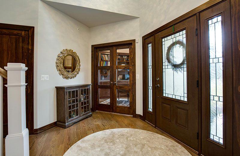 Custom Built Home - entry and office, Medinah, IL