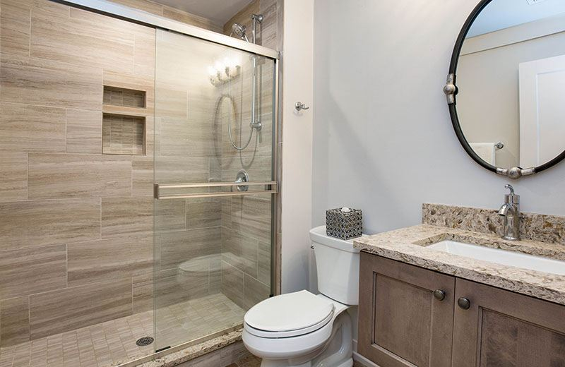 Custom Built Home -lower level bathroom, Medinah, IL