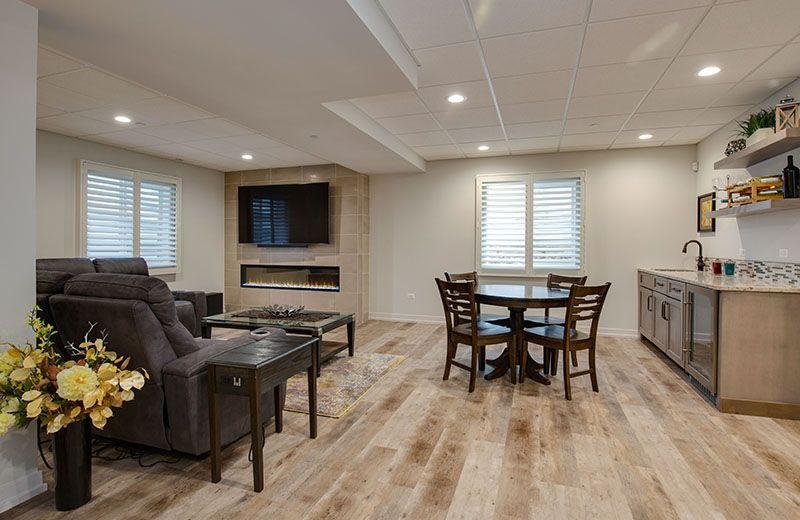 Custom Built Home - lower level family room, Medinah, IL
