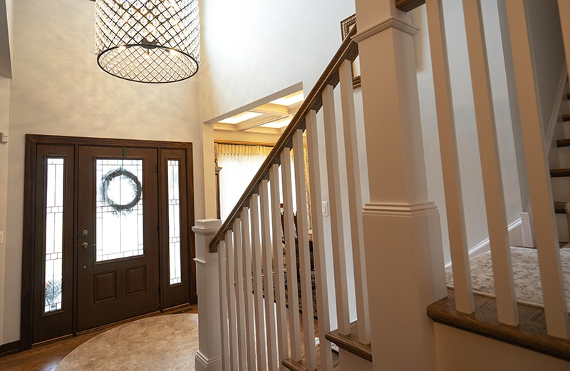 Front Entry with Stairs to Upper Level