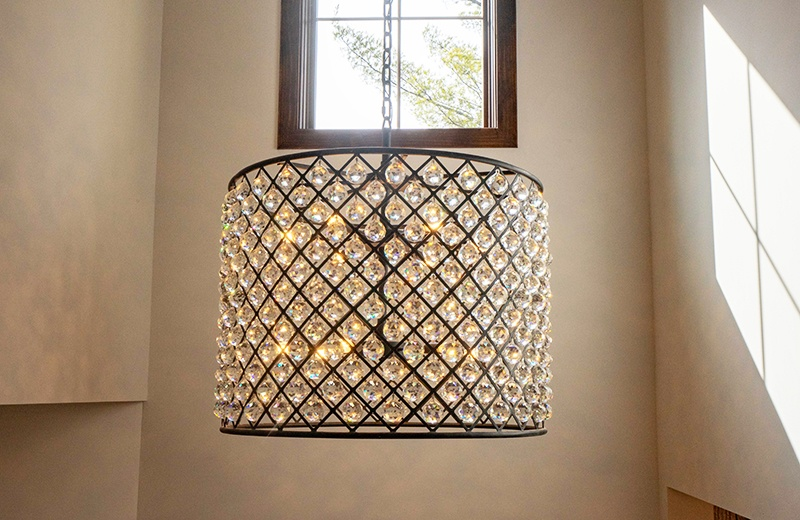 entry light fixture with 100 crystals