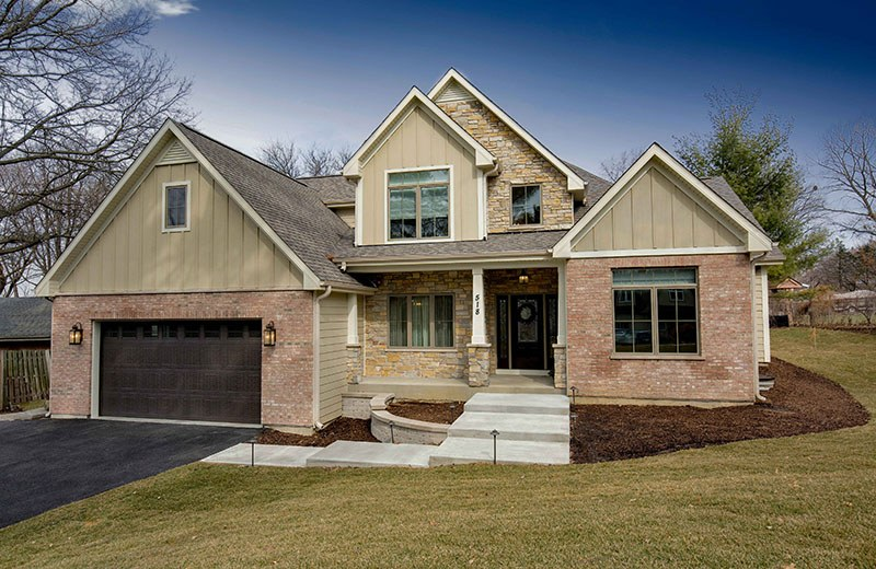 Custom Built Home - front of home, Medinah, IL