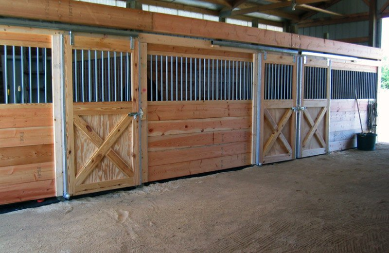 Custom built home and barns - horse barn