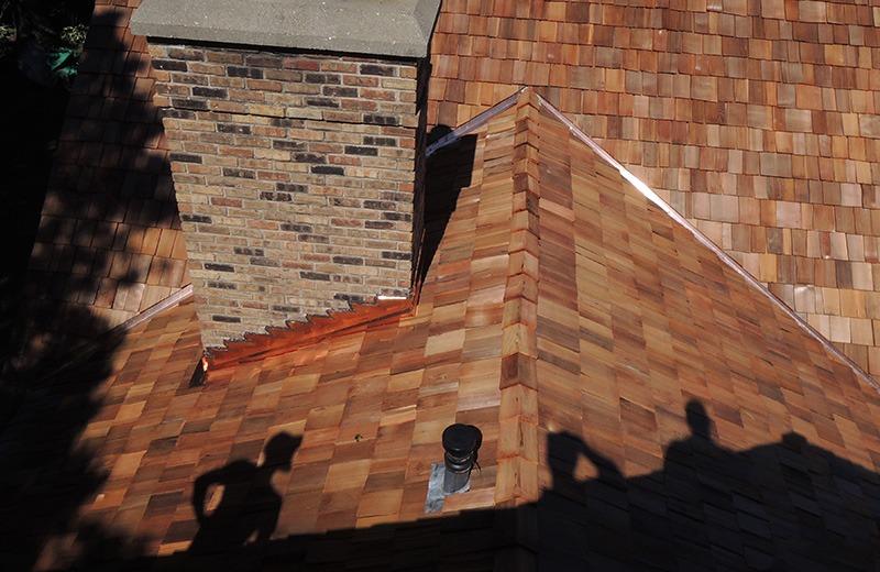 Exterior renovation - new cedar roof