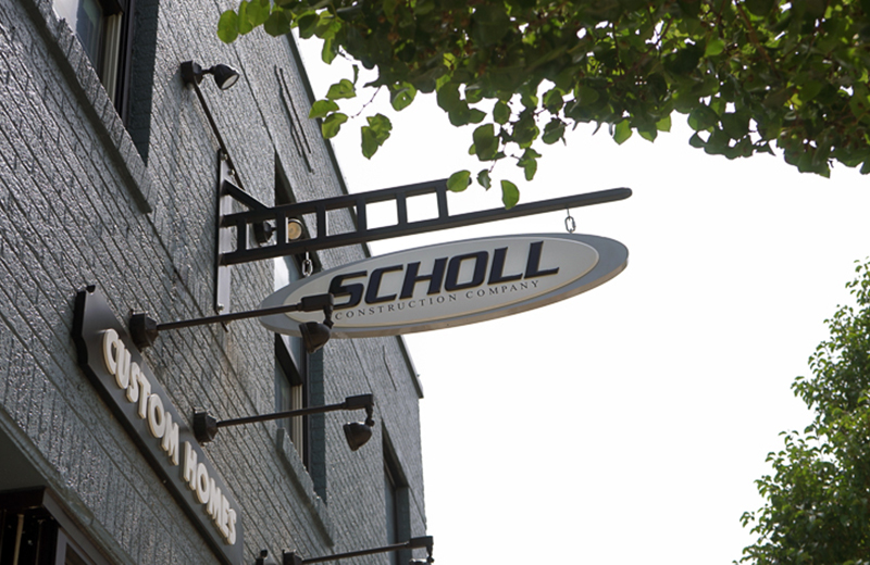 Scholl Construction building sign